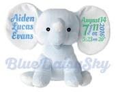 Adorable Personalized Stuffed Animal New Baby Boy