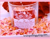 Lotus Bath Salt Soak, Lotus EssentialOil, Spirituality and Relaxation Floral Healing, By: Tranquilityy