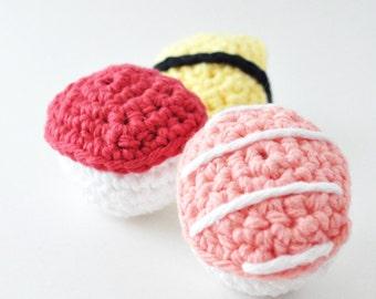 Sushi Amigurumi Pattern, Crochet Pattern, Play Food, Crochet Sushi