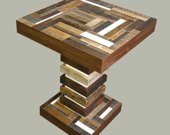 Reclaimed wood side table - SALE - 40% Off