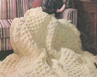 "A Bouquet of Bernat Afghans to knit and crochet in beautiful ""Berella"", Book 160, 1968"