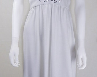 Original 1970s Designer Vintage Halston White Halter Dress UK Size 10