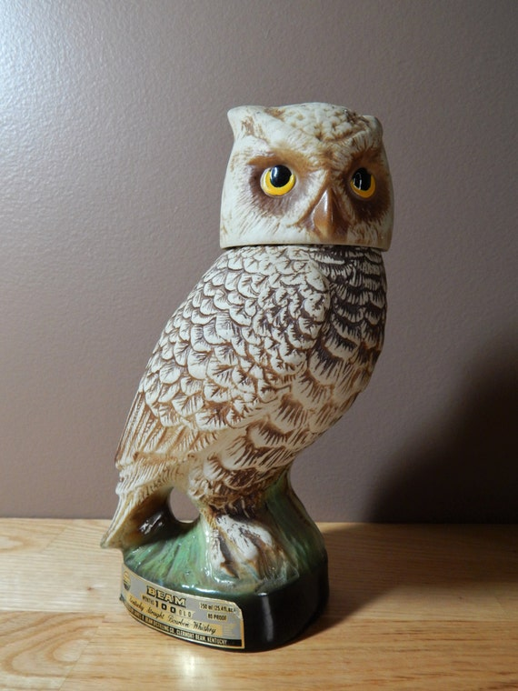 Vintage Jim Beam Bourbon Whiskey Owl Decanter