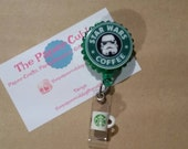 Starbucks Inspired - Star Wars Inspired - Stormtroopers Inspired Retractable Badge Holder / Badge Reel - Ready to Ship