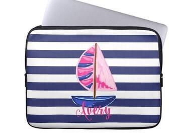 Personalized Preppy Laptop Sleeve - Design your Own MacBook Sleeve - Monogram Laptop Case, Monogrammed iPad Case