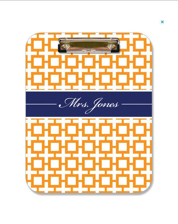Personalized Clipboard Monogrammed Gift Wedding Planner Gift Custom Clipboard - Choose Colors