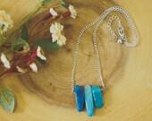 Triple Crystal Pendant Necklace
