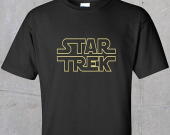 Star Trek Wars - Metallic Outline Print