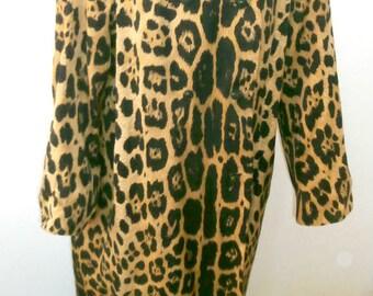 I Magnin  Leopard Coat