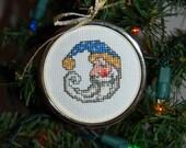 Santa #4 Cross Stitch Ornament