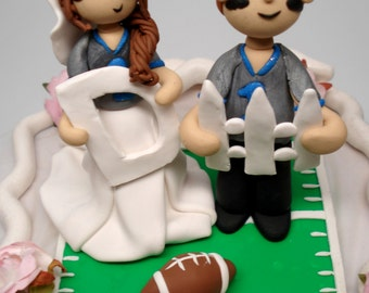 Sports Fan Wedding Cake Topper Custom Bride and Groom Sports Cake Topper Custom Wedding