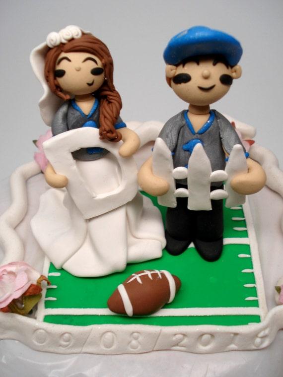 Football Wedding Cake Topper Football Fans Cake Topper Bride