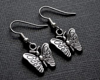 Silver Butterflies . Earrings