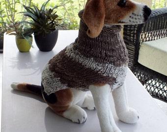 Hand Knit  Beagle Dog Sweater Size Medium
