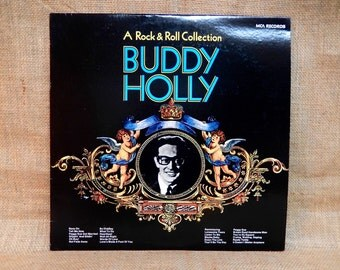 BUDDY HOLLY - A Rock & Roll Collection - 1980 Vintage 2 lp Gatefold Vinyl Record Album
