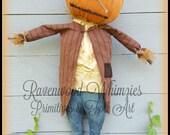 Primitive Pumpkin Pattern, Primitive Scarecrow, Primitive Fall, Prim Pumpkin, Prim Halloween, Halloween, Fall PATTERN!