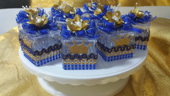 royal blue and gold baby shower decorations 12 royal prince box favors