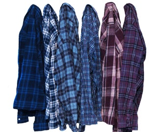Vintage Oversize Flannel Shirt Distressed Flannels