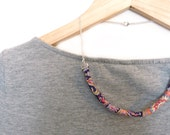Bar Necklace - Liberty Print Cord - Statement Jewellery - Customizable - Textile Necklace - Bridesmaid Gifts - Handmade Wedding