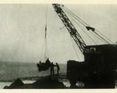 "Vintage Photo ""Seaside Occupation"" Boat Snapshot Photo Antique Photo Black & White Photograph Found Photo Paper Ephemera Vernacular - 172"