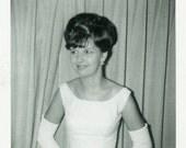 "Vintage Photo ""Her Happy Day"" Dress Snapshot Photo Old Antique Photo Black & White Photograph Found Photo Paper Ephemera Vernacular - 191"