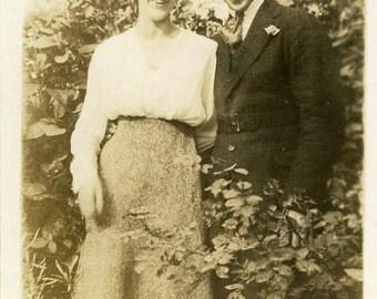 "Vintage Photo ""Sam's New Gal"" Snapshot Photo Old Antique Photo Black & White Photograph Found Photo Paper Ephemera Vernacular - 15"