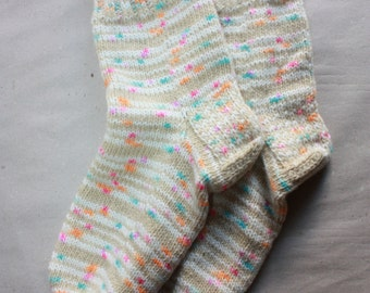 29 cm /// 11,5 inches Hand Knitted Socks - Winter Socks - US Men 12 /// US Women 13 /// EU 45-46