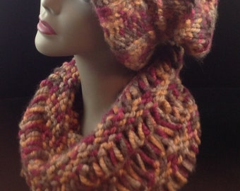 Knit cowl, handmade infinity scarf, chunky knit cowl