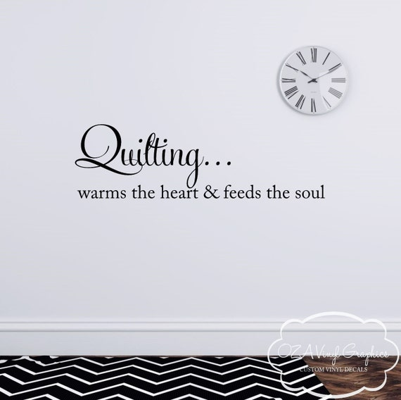 Quilting Room Wall Decor : Quilting vinyl wall decal lettering by
