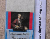 Benjamin Rush Oak Authentic Slice of History bookmark -  from Christ Church Burial Ground Philadelphia, (Declaration of Independence signer)