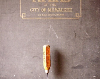 Vintage Wood Ice Pick with Advertising - Great Guy Gift!