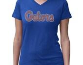 CHILD or ADULT SIZE  Florida Gators Bling Crystal Rhinestone Shirt