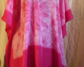 Plus size top Tie dye top Pink Top Batik Top Resort Wear womens plus size boho top Festival top bohemian top hippie top deadhead art team