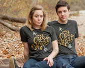Out West Black Shirt. Unisex tee celebrates the west coast. Made in the USA.