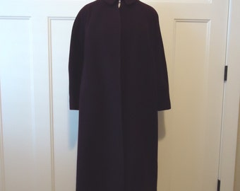 Vintage coat, Retro coat, Vintage jacket, French vintage, trench coat, rain coat, 1940 Purple Swing Wool coat