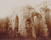 St John's Ruins- 1900s Antique Photograph- Chester, England- Church Architecture- Edwardian Decor- Real Photo Postcard- RPPC- Paper Ephemera