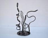 Steel Desk Top Sculpture, Home and Office Abstract Sculptural Art, Metal Art, Modern Metal Art, Tactile Art