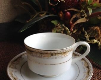 Vintage Tea Cup Signature Collection Queen Anne 113 Japan Fine China Teacup ~ #4634