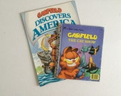 Vintage Garfield Books / Little Golden Book Garfield The Cat Show / Garfield Comes to America / 1980s