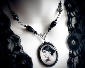 Virginia Woolf, poly clay pendant, writer, poet, Victorian, literature, historical jewelry, Virginia Woolf necklace