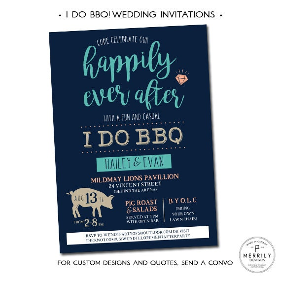 Do Your Own Wedding Invitations: I Do BBQ Wedding Invitations Casual Wedding Invitation