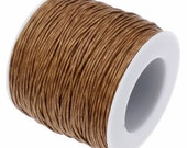 Waxed Cord : 10 feet Saddle Brown 1mm Waxed Cord String / Bracelet Cord / Macrame Cord / Chinese Knotting Cord  123-10