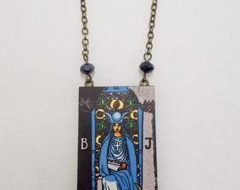 Tarot Card Necklace The High Priestess