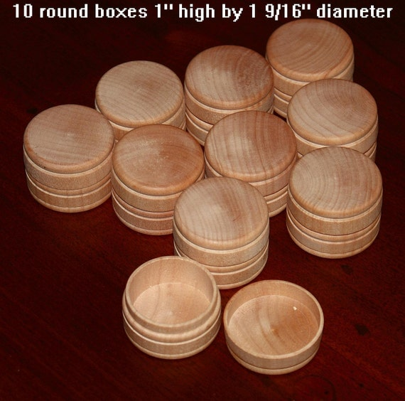 10 wood box w lid small unfinished round 1 x for Circular wooden box
