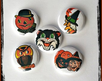 """Old Time Halloween - 1"""" Button Choose Your Own"""