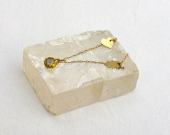 Diamond Gold Necklace, Diamond Charm, Rough Diamond Necklace, Lucky Charm Necklace, Raw Diamond Necklace, Bridal Diamond Jewelry