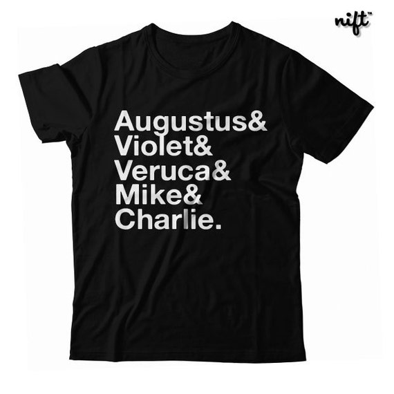 Charlie and the Chocolate Factory Names UNISEX T-shirt