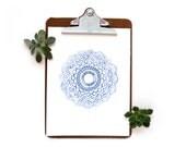 Baby Blue Mandala | Art Print