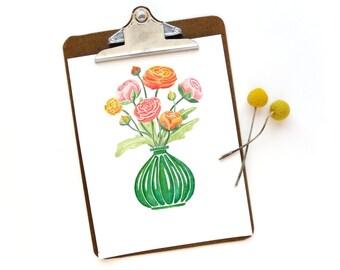 Ranunculus | Watercolor Art Print
