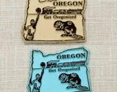 "OREGON State Magnet ""Get Oregonized"" Vintage Travel Tourism Summer Vacation Memento | USA America 'Merica | Portland Refrigerator"